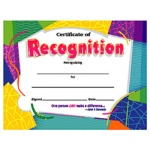 Certificate Of Recognition Colorful 30/pk