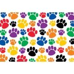 Colorful Paw Prints Postcard