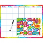 Colorful Brush Strokes Calendar Wipe Off Kit
