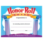 Certificate Honor Roll Award 30/pk 8-1/2 X 11