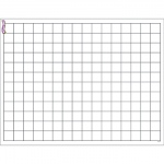 Graphing Grid Small Squares Wipe Off Chart 17x22