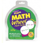 Math Wheel Flash Cards 12/pk Multiplication & Division