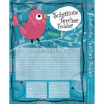 Substitute Teacher Folder Song Bird