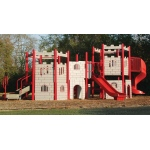 "SportsPlay Castle Modular Play Structure: 5"" Posts  - Playground Equipment & Set"