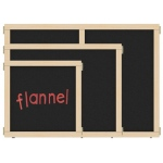 "Jonti-Craft KYDZ Suite® Panel: Flannel, T-Height, 48"" Wide"