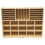 ECR4Kids Multi-Section Storage Cabinet: Desert Sand