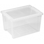 ECR4Kids Large Storage Bins with Lids: Clear