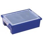 ECR4Kids Small Storage Bins and Lids: Blue
