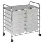 ECR4Kids 12 Drawer Mobile Organizer: White