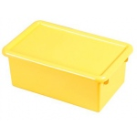 ECR4Kids Stack and Store Tub with Lid: Yellow