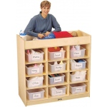 Jonti-Craft Changing Table: with Pad, 12 Tub