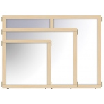 "Jonti-Craft KYDZ Suite® Panel: Mirror, T-Height, 48"" Wide"
