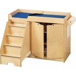 Jonti-Craft Changing Table with Stairs: Left