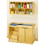 Jonti-Craft Changing Table with Stairs: Left, Combo