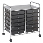 ECR4Kids 12 Drawer Mobile Organizer: Smoke