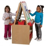 ECR4Kids 2 Station Art Easel with Storage
