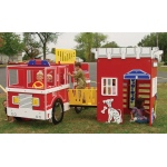 SportsPlay Tot Town Fire Engine House - Contained Play Structures