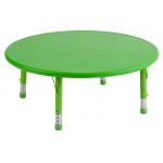 "ECR4Kids 45"" Round Resin Adjustable Activity Table: Green"