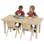 ECR4Kids Resin Table: Rectangle, Desert Sand, 48 Inches
