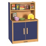 ECR4Kids Colorful Essentials Play Kitchen: Cupboard, Blue