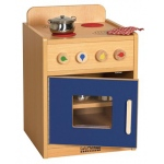 ECR4Kids Colorful Essentials Play Kitchen: Stove, Blue