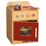 ECR4Kids Colorful Essentials Play Kitchen: Stove, Red
