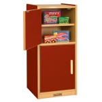 ECR4Kids Colorful Essentials: Play Kitchen, Refrigerator, Red