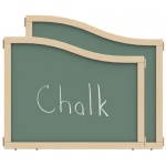 "Jonti-Craft KYDZ Suite® Cascade Panel: Chalkboard, E down to T Height, 36"" Wide"
