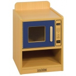 ECR4Kids Colorful Essentials: Play Kitchen, Microwave, Blue