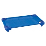 ECR4Kids Stackable Kiddie Cot Toddler, Ready to Assemble, Blue