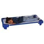 ECR4Kids Stackable Kiddie Cot Toddler with Sheet: Ready to Assemble, Blue