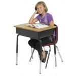 ECR4Kids Metal Open Front Desk