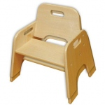 ECR4Kids Wooden Toddler Seat: Ready to Assemble, 10 Inch
