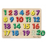 Spanish Numbers Sound Puzzle 20 Pcs