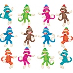 Sock Monkeys Mini Accents Variety Pack