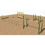 SportsPlay 9 Station Fitness Course: Painted - Playground Fitness Equipment