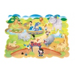 Giant Zoo Animals Floor Puzzle