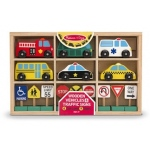 Wooden Vehicles And Traffic Signs