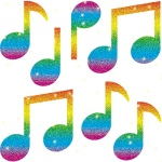 Dazzle Stickers Music Notes 105-Pk