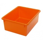5in Stowaway Letter Box Orange No Lid 13 X 10-1/2 X 5