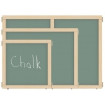 "Jonti-Craft KYDZ Suite® Panel: Chalkboard, T-Height, 24"" Wide"