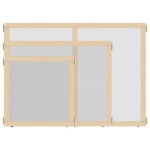 "Jonti-Craft KYDZ Suite® Panel: See-Thru, T-Height, 24"" Wide"