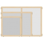 "Jonti-Craft KYDZ Suite® Panel: See-Thru, T-Height, 36"" Wide"