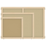 "Jonti-Craft KYDZ Suite® Panel: Hardboard, A-Height, 48"" Wide"