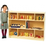 "Angeles® Value Line Birch Mobile Divided Storage: 36""H"