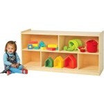 "Angeles® Value Line Birch Mobile Divided Storage: 24""H"