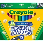 Crayola Washable Markers 12ct Asst Colors Conical Tip