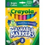 Crayola Washable 8ct Bright Colors Conical Tip