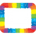 Name Tags Rainbow Kid-Drawn 40/pk Self-Adhesive