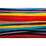 Assorted 6 Inch Chenille Stems 100 Per Pack